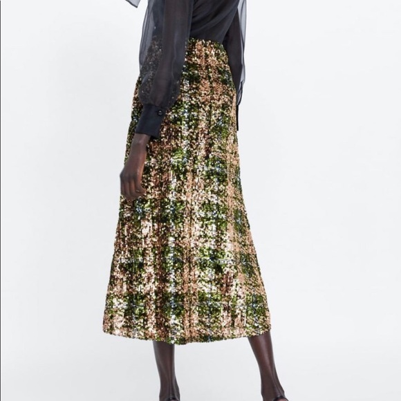 Zara Dresses & Skirts - 💗Zara Limited Edition Sequin Skirt💗Bloggers Fave